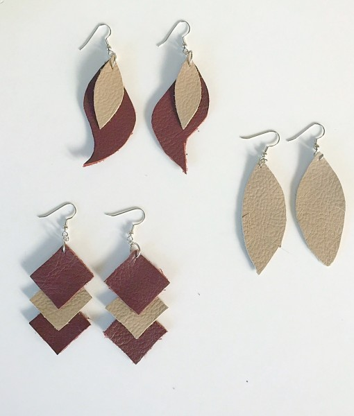 leather earrings how to make leather earrings with pop shop america diy blog