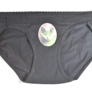 Black Cat Underwear Russian Blue Kitten Panties by Pop Shop America Made in USA Design Shop