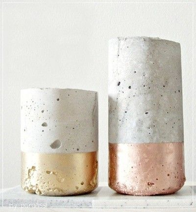 Concrete Vase with Gold Gilding Easy DIY Workshops