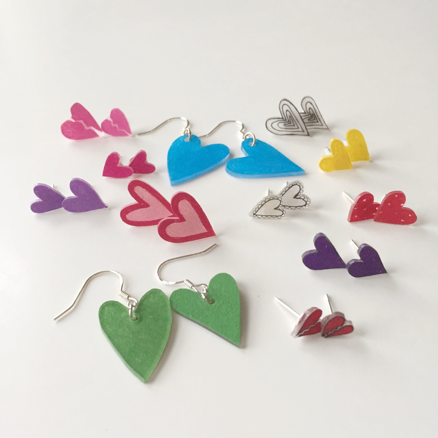 How to Make Heart Earrings Rainbow Heart Earrings by Pop Shop America