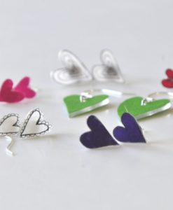 How to Make Heart Earrings   Rainbow Heart Earrings things to make with shrinky dinks   shrinky dink crafting