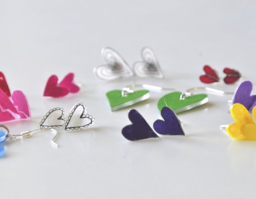 How to Make Heart Earrings | Rainbow Heart Earrings things to make with shrinky dinks | shrinky dink crafting