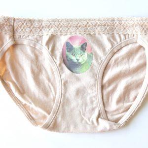 Russian Blue Cat Underwear Cat Panties by Pop Shop America
