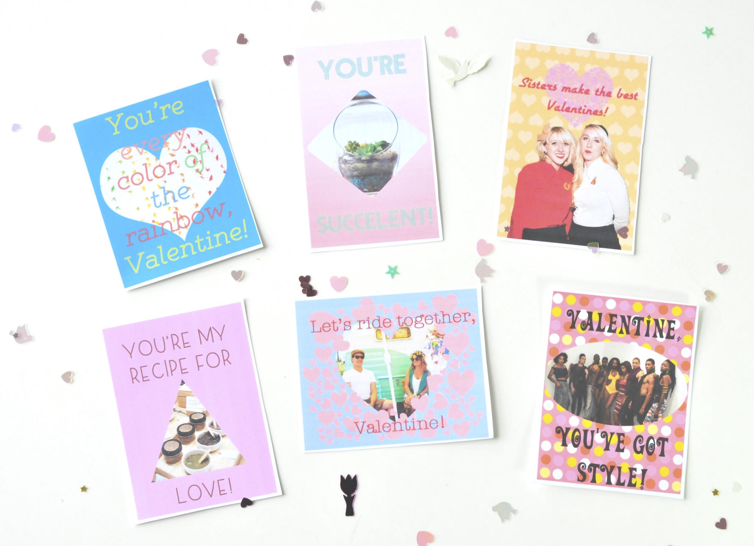 Printable Valentines Craft Valentines by Pop Shop America DIY Festival Free Printables