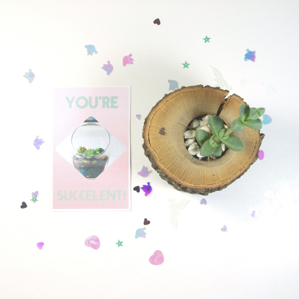 You're Succulent Free Printable Valentine's Cards