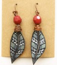 Feather Earrings with Shrinky Dinks | Coolest Shrinky Dink DIY's | Earrings on Etsy | Handmade Earrings on Etsy
