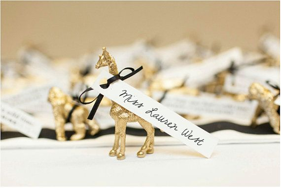 Gilded Animal Place Card Holders Stylish Crafts Wedding DIYs
