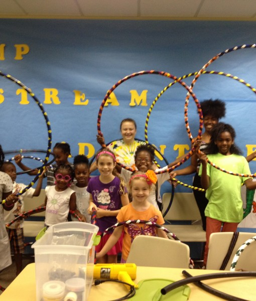 build your own hula hoop free kids event at houston public libraries