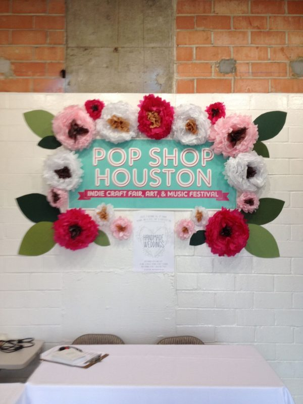 Front Desk of Pop Shop Houston Event Handmade Weddings Indie Boho Bridal Event Houston