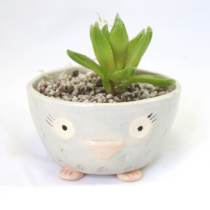 owl pottery handmade ceramics animal planters at pop shop america online shop