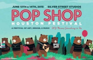 Pop Shop Houston Festival - Craft Show Poster