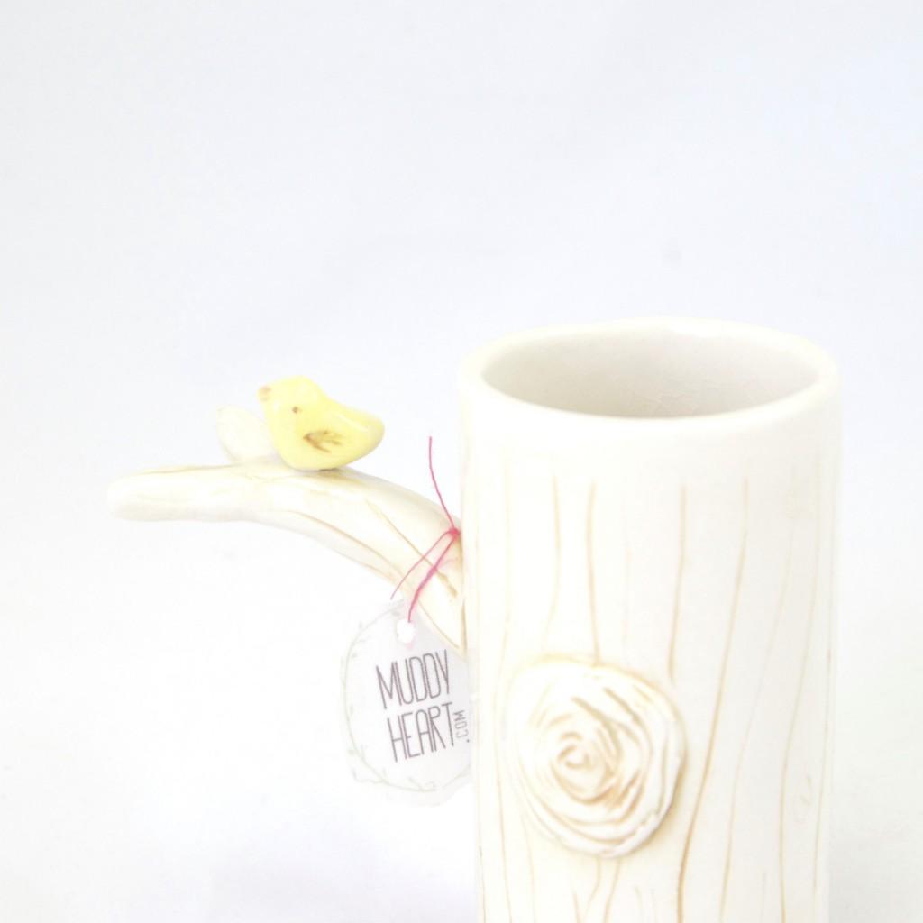 Bird on a Branch Ceramic Tree Vase - Shop at Pop Shop America