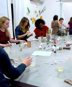 gilding workshop craft class with pop shop america