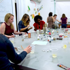 gilding workshop craft class with pop shop america