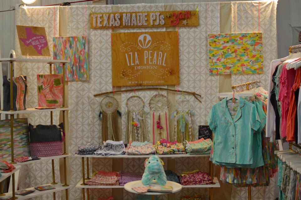 Iza Pearl Handmade Pajamas at Pop Shop Houston Modern Craft Fair June 2015