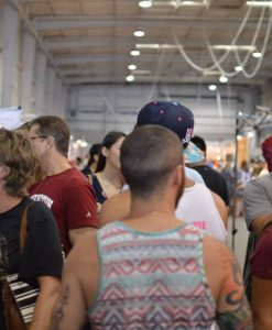 crowds at Pop Shop Houston Art Festival