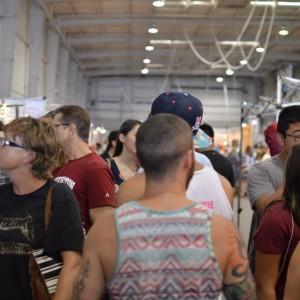 crowds at Pop Shop Houston Art Festival