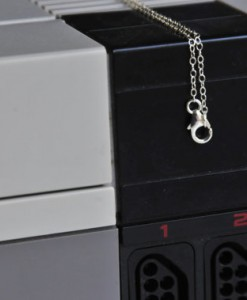 Sterling Nintendo Necklace Detail