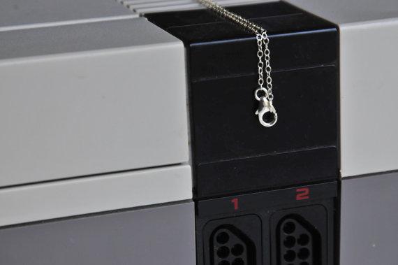 Sterling Nintendo Necklace Detail
