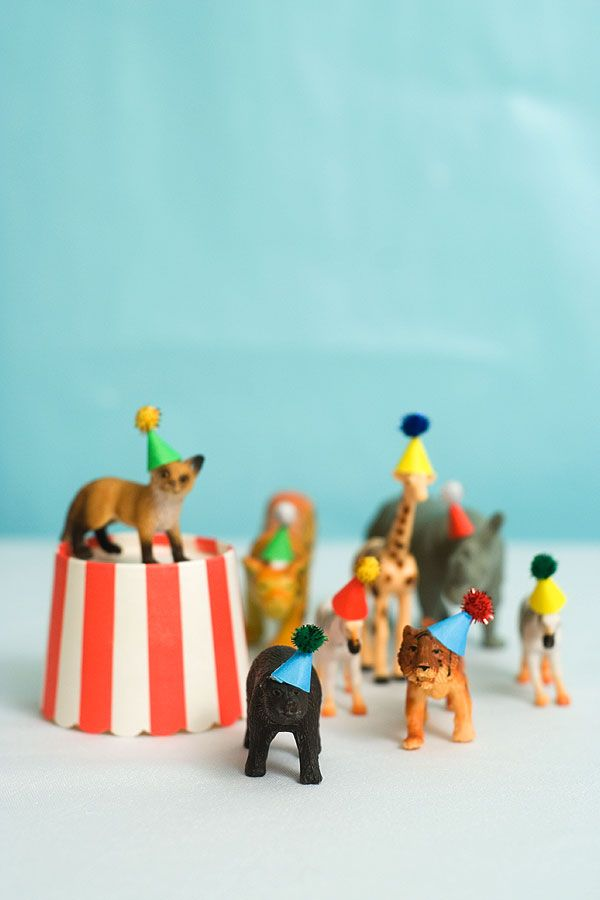 animal toys in party hats diy pop shop america