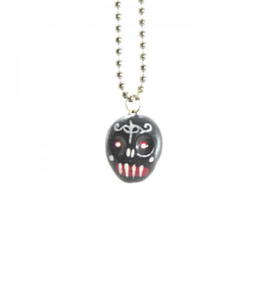 Kawaii Black Skull Necklace