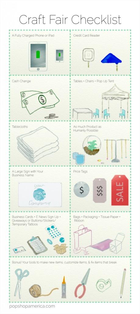 Craft Fair Supply Checklist