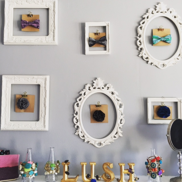 Cute frames at Lush & Co.