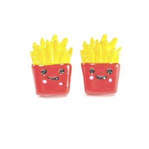 Kawaii French Fry Stud Earrings