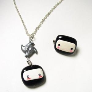 ninja necklace kawaii jewelry kawaii necklaces at Pop Shop America handmade by Komodokat in Texas