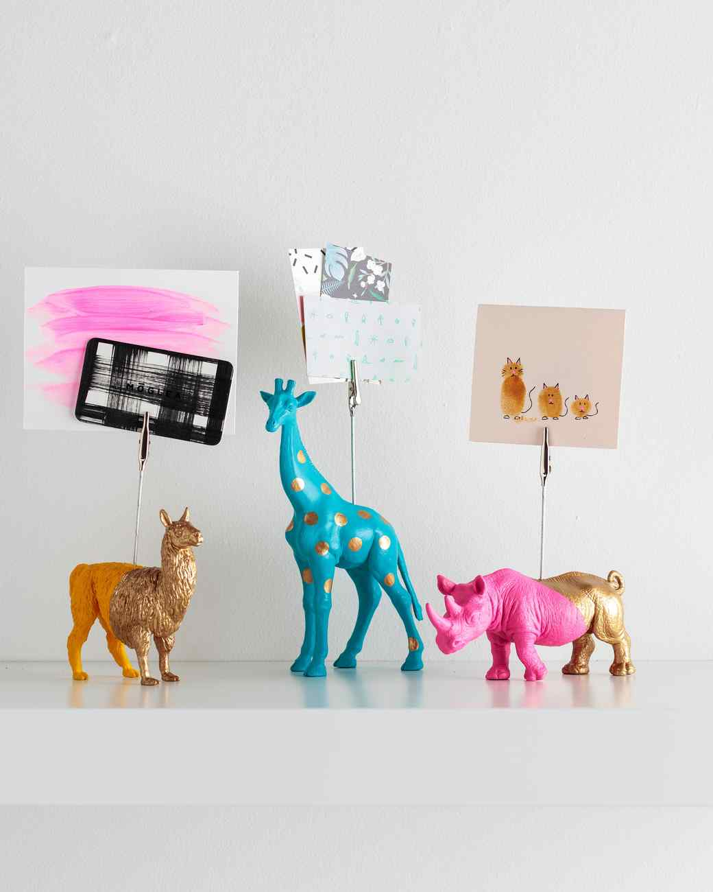 painted animal note holders martha stewart