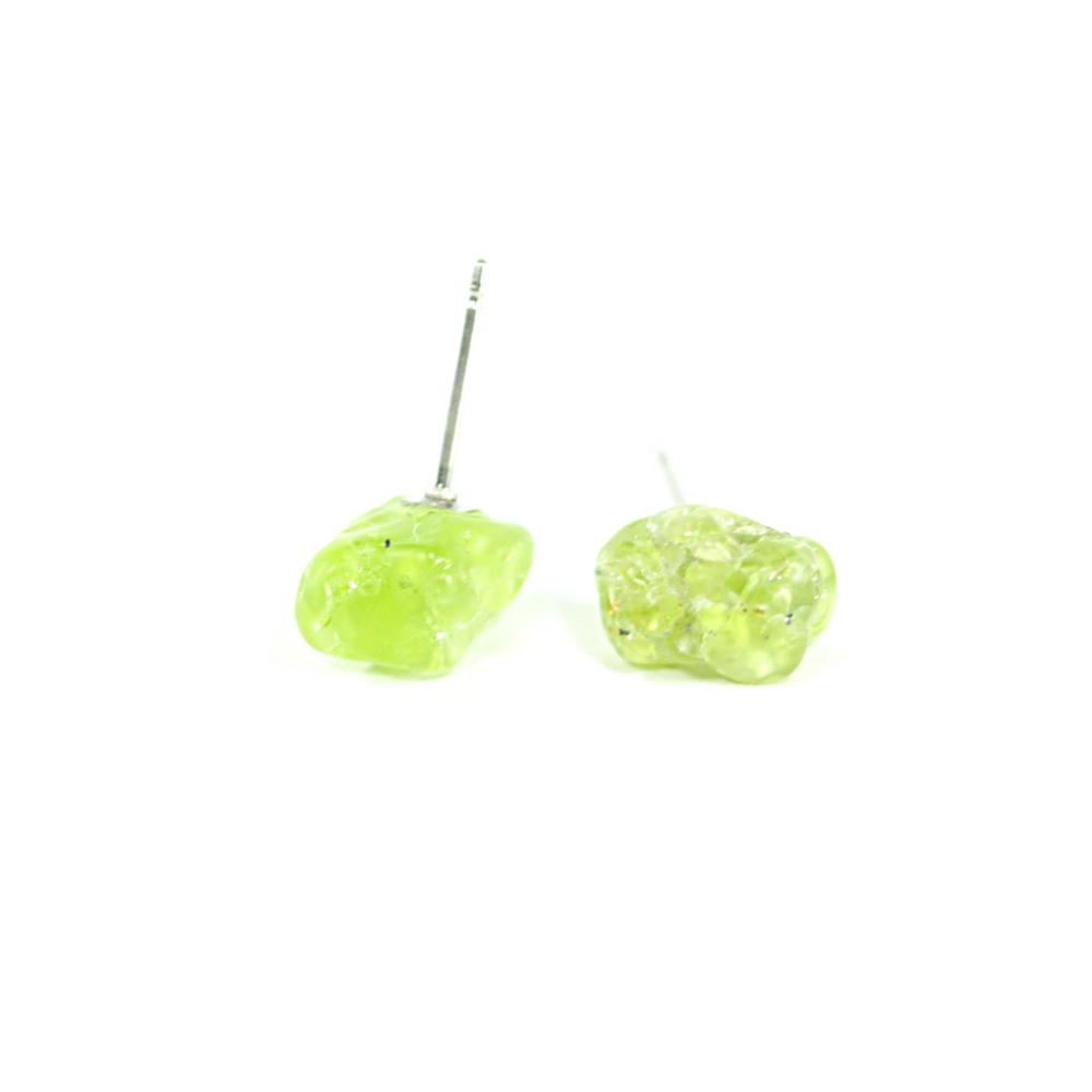 Peridot Stud Earrings Handmade by Potions