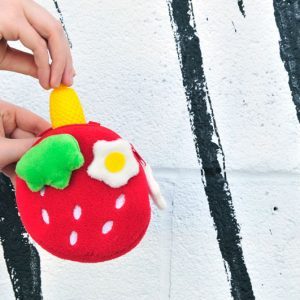 strawberry-coin-purse-in-use cute kawaii accessories food accessories