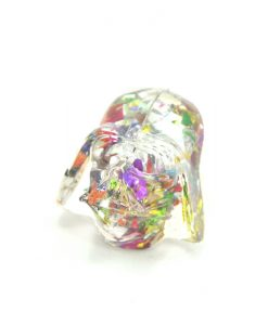 Rainbow Glitter Darth Vader Ring