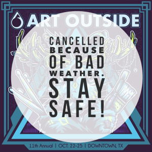 Art Outside Rain Cancellation | Art Outside Festival Oct. 2015