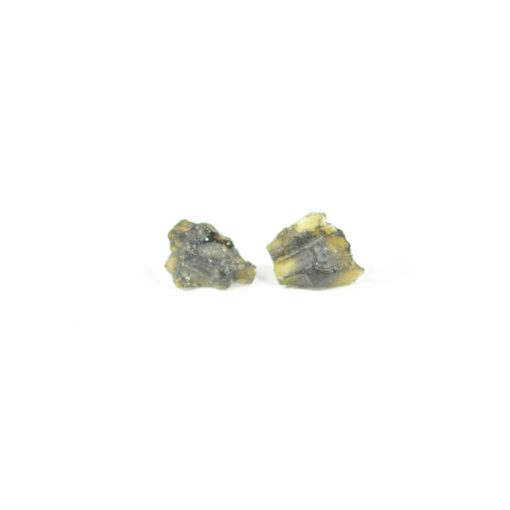 Tektite Stud Earrings Handmade by Potions