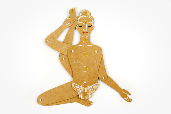 MD Paper Dolls | Yoga Pose Paper Sculpture by Maria Dubrovskaya