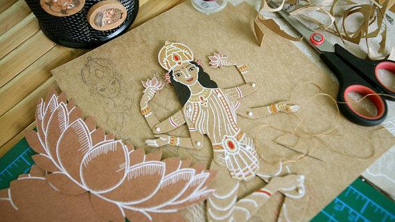 MD Paper Dolls | Hindu Deities by Maria Dubrovskaya | Paper Sculpture