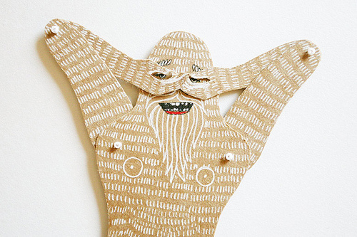 MD Paper Dolls | Silly Yeti Paper Sculpture by Maria Dubrovskaya