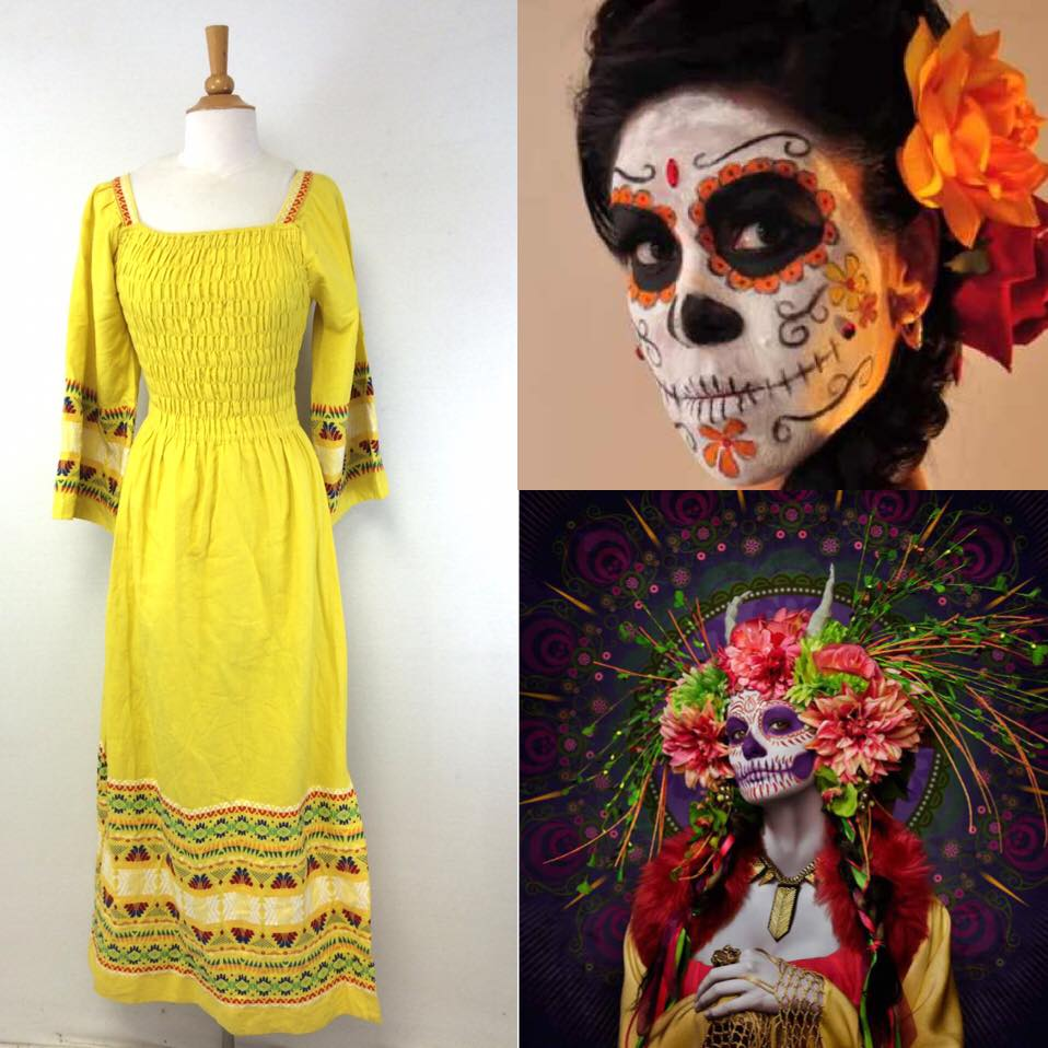 day of the dead halloween costume | Mood Board for Day of the Dead halloween | Halloween Dress Makeup and Hair | Costume Ideas