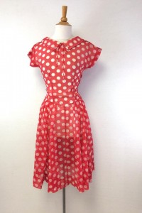 i love lucy dress | Vintage Polka Dot Red Dress | Halloween Costumes | Turn Everyday Vintage into Extraordinary Halloween Costumes