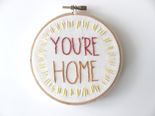 your home embroidery hoop | embroidery artwork | artwork for your home