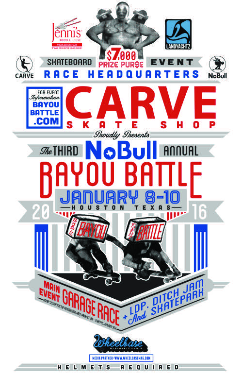 Bayou Battle Skateboarding Race + Pop Up Jan 2015