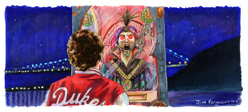 Jim-Ferguson-Zoltar handmade watercolors at Pop Shop Houston Festival 2015