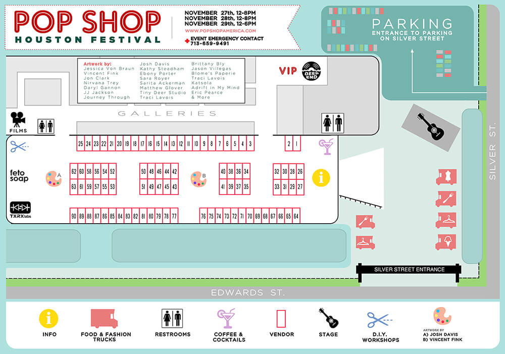 Pop Shop Houston Black Friday Festival 2015 Map and Info