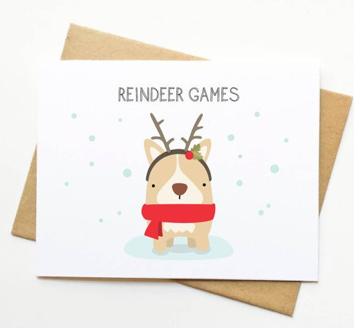 Reindeer Games Holiday Card Le Trango