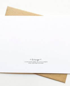 back of le trango card | handmade illustrated cards and paper goods available at pop shop america