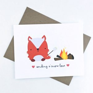 cute fox camping card love card paper goods at pop shop america online shopping website