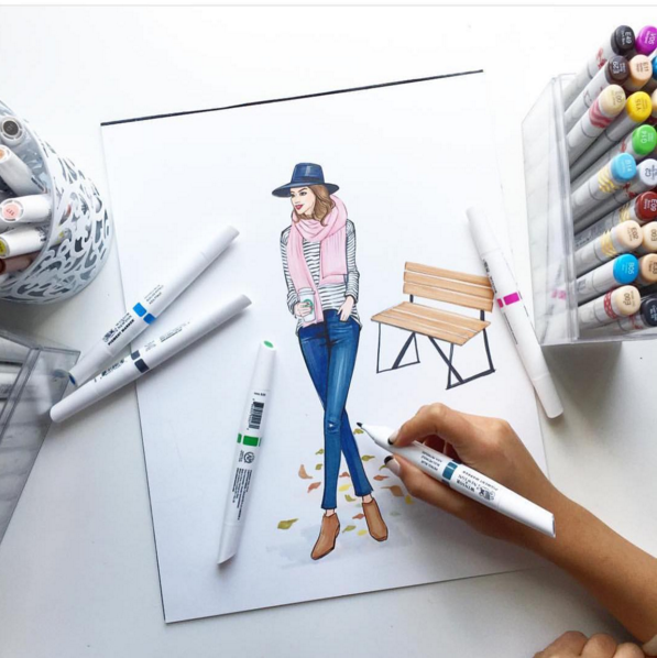 Rongrong DeVoe Fashion Illustrator Artists to Follow on Instagram