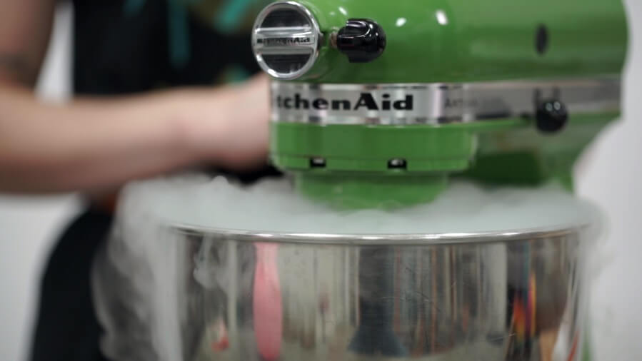 Smoke Billowing Make Ice Cream with Dry Ice