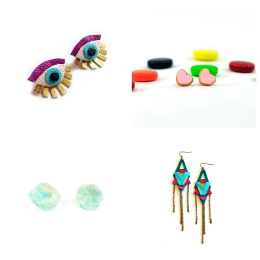 earrings-collage-handmade jewelry subscription box